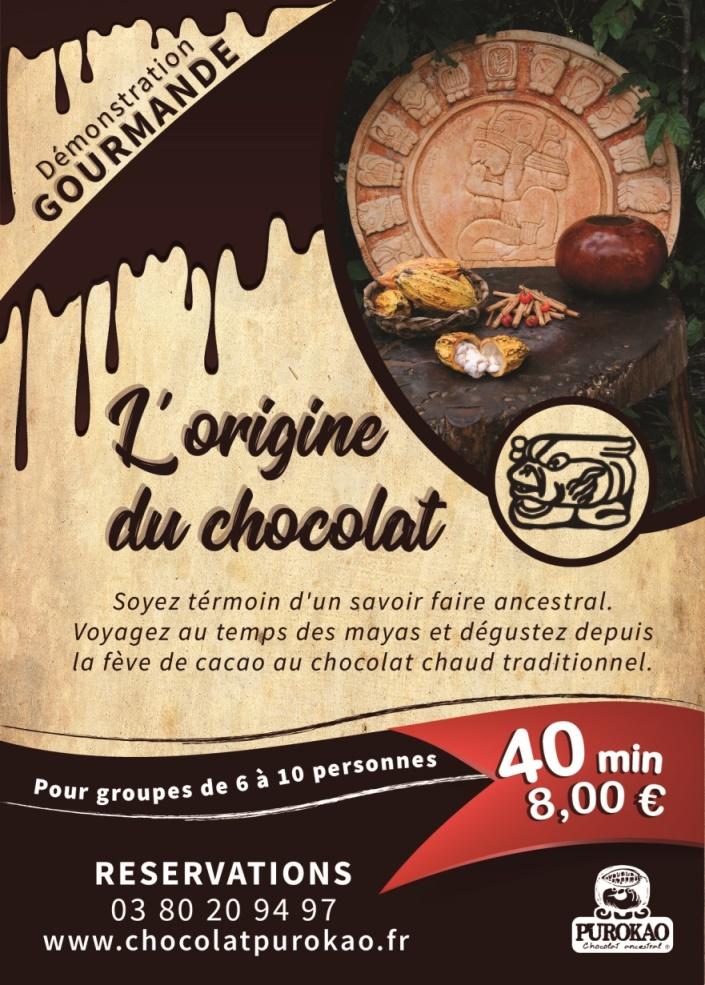 FLYER demonstration gourmande L 'origine du chocolat