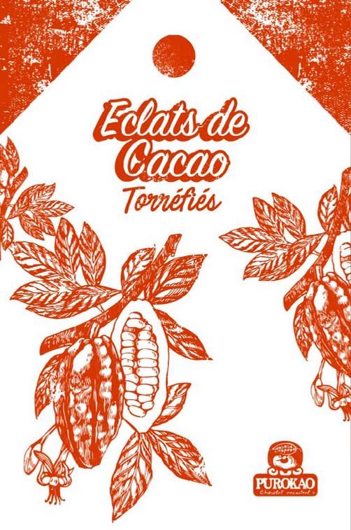 éclats de fèves de cacao torréfiés 1