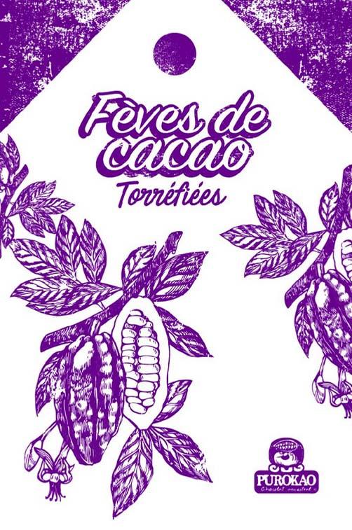fèves de cacao torréfiées 1