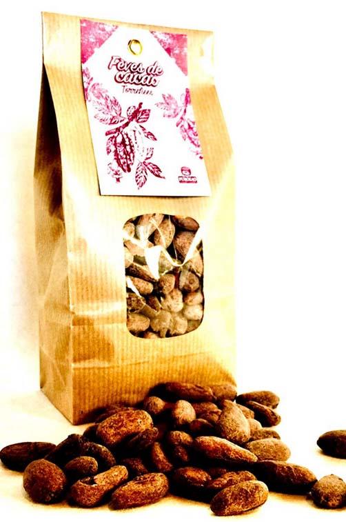 fèves de cacao torréfiées 2
